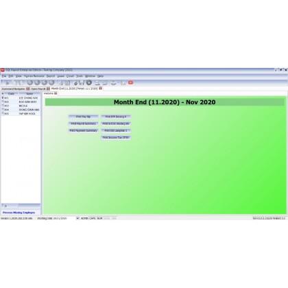 SQL Payroll System - Single Company